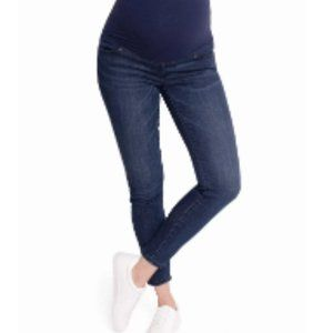 Isabel Maternity Skinny Crossover Panel Jeans 18